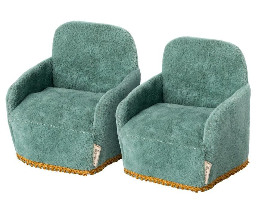 Maileg miniature armchairs set of two