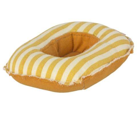PRE-ORDER Rubber boat for mice - yellow stripe