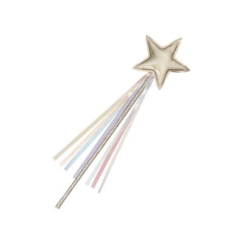 Rainbow ribbon star wand