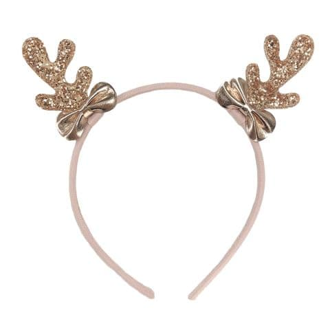 Rose Gold Reindeer Headband