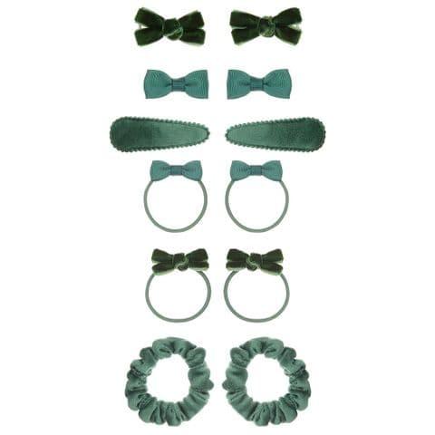 School hair accessories pack - green