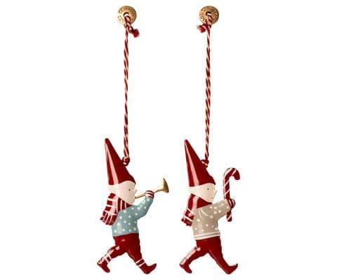 Set of 2 metal ornament - Pixies