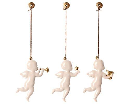 Set of 3 metal ornament - Angels