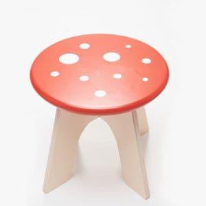 Toadstool wooden stool