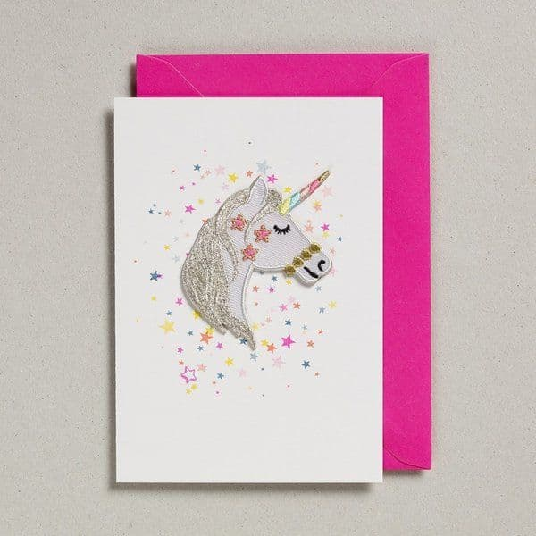 Petra Boase Unicorn patch card
