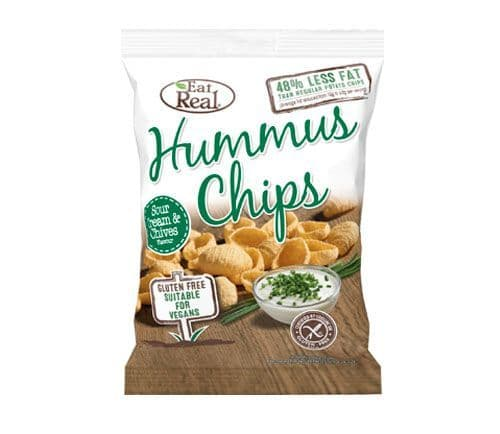 Eat Real Hummus Chips Sour Cream & Chive 135g