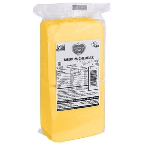 Follow Your Heart Medium Cheddar Style Slices 1kg