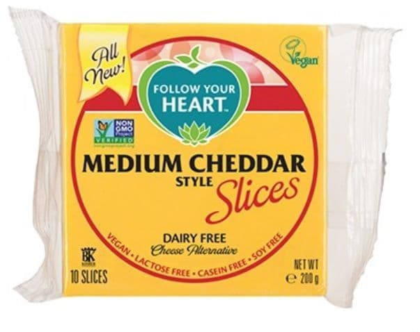 Follow Your Heart Medium Cheddar Style Slices 200g