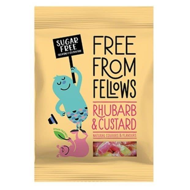 Free From Fellows Sugar Free Rhubarb & Custard Sweets 80g