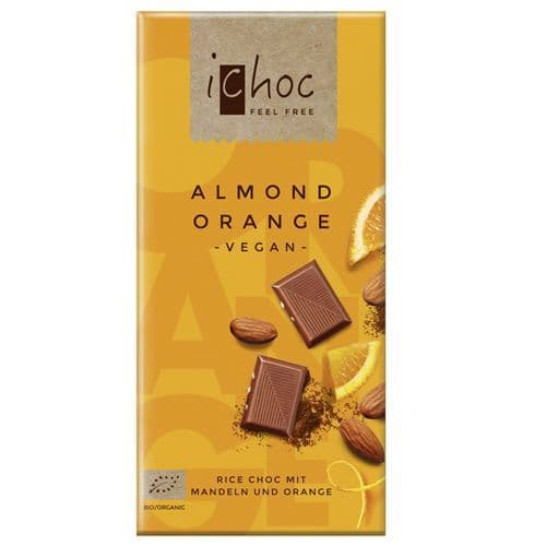 iChoc Almond Orange 80g