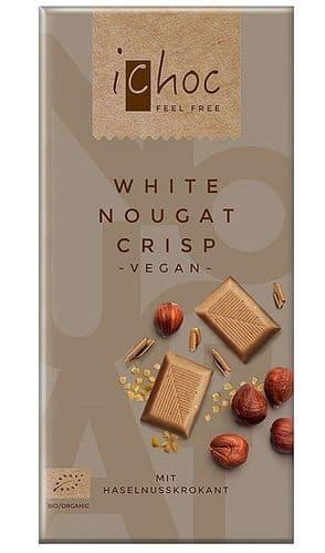 iChoc White Nougat Crisp 80g