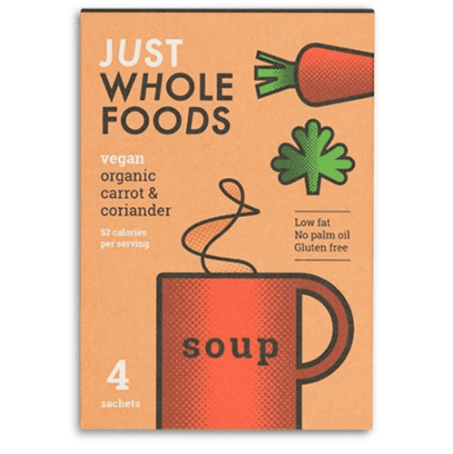 Just Wholefoods Carrot & Coriander Soup 68g