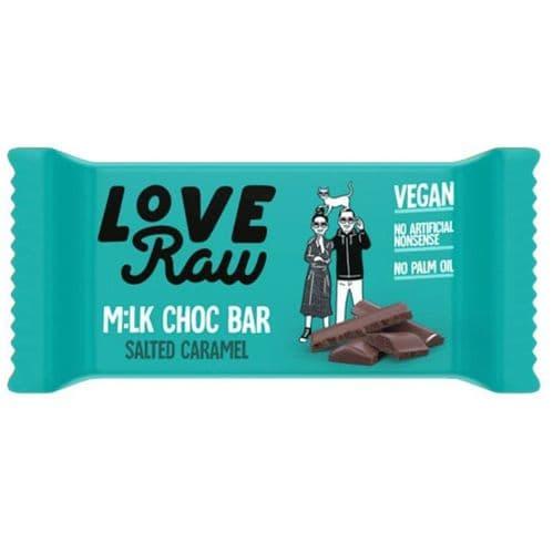 LoveRaw Salted Caramel Mylk Choc Bar 30g