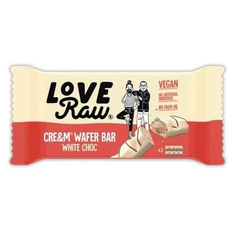 LoveRaw White Choc Cream Wafer Bars 43g