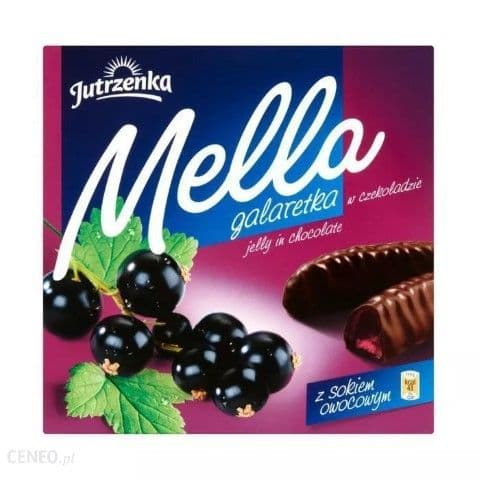 Mella Chocolate Covered Blackcurrant Jelly 190g