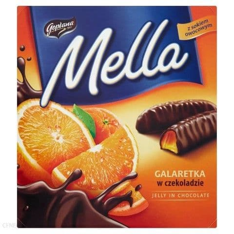 Mella Chocolate Covered Orange Jelly 190g