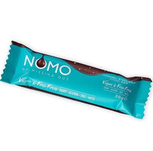 NOMO Chocolate Caramel & Sea Salt Bar 38g