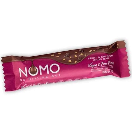 NOMO Chocolate Fruit & Crunch Bar 32g
