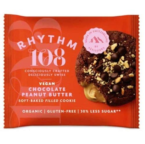 Rhythm 108 Chocolate Peanut Butter Soft-Baked Filled Cookie 50g