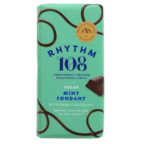 Rhythm 108 Swiss Made Mint Fondant Dark Chocolate 100g