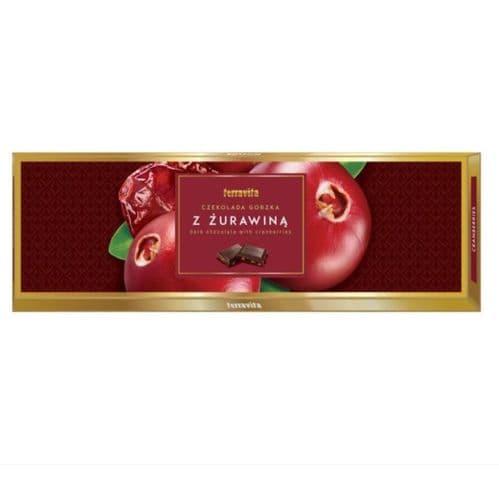 Terravita Dark Chocolate with Cranberry Pieces 250g