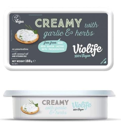 Violife 150g Creamy With Garlic & Herbs
