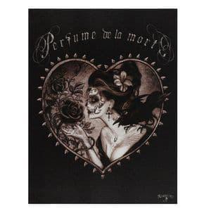 19X25CM PERFUME DE LA MORT CANVAS PLAQUE BY ALCHEMY