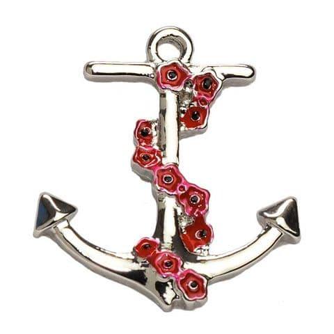 Anchor Pin Badge 20mm