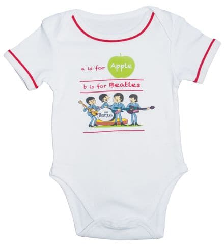 Babywear - The Beatles - A is for Apple Body Suit BEC67RW