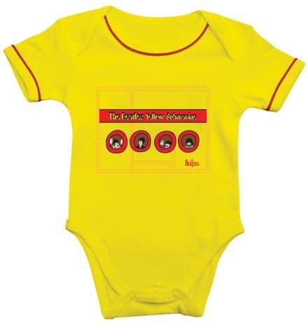 Babywear - The Beatles - Yellow Submarine Portholes Body Suit BEC91RW