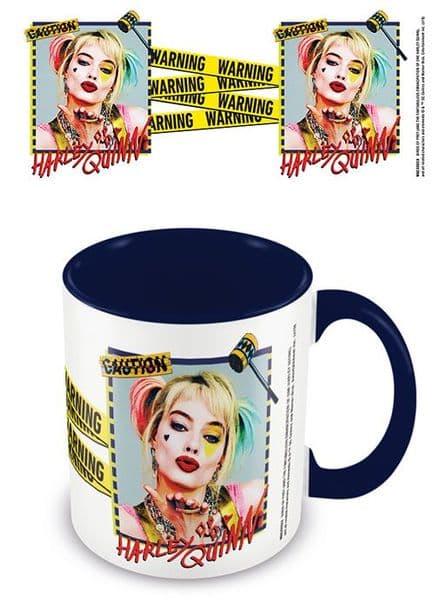 Birds Of Prey (Harley Quinn Warning) Blue  Coloured Inner Mug