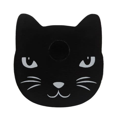 BLACK CAT SPELL CANDLE HOLDER