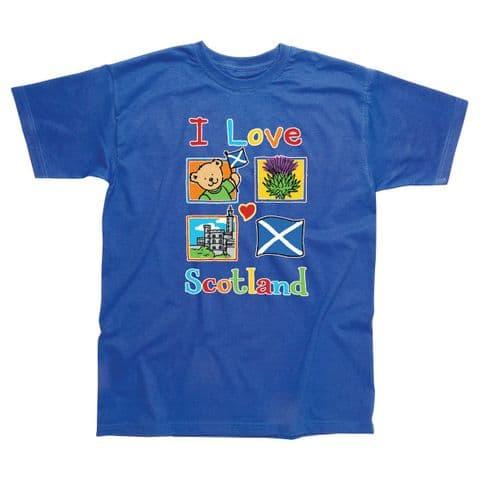 Children's Classic T-Shirt - I Love Scotland SSC44