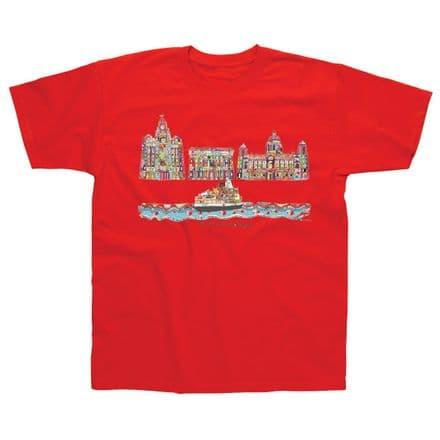 Children's Classic T-Shirt Liverpool 3 Graces TMC01R