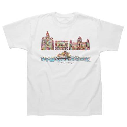 Children's Classic T-Shirt Liverpool 3 Graces TMC01W