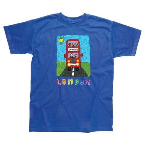 Children's Classic T-Shirt - London - Happy Bus SLC58