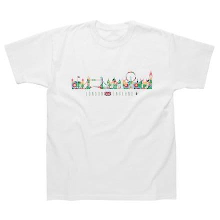 Children's Classic T-Shirt - London - Skyline Flowers LGC22