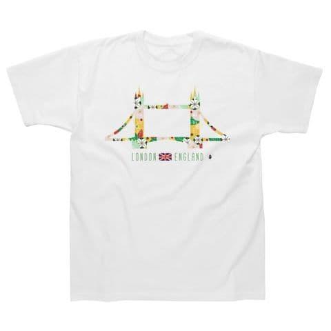 Children's Classic T-Shirt - London - Tower Bridge Flowers LGC25