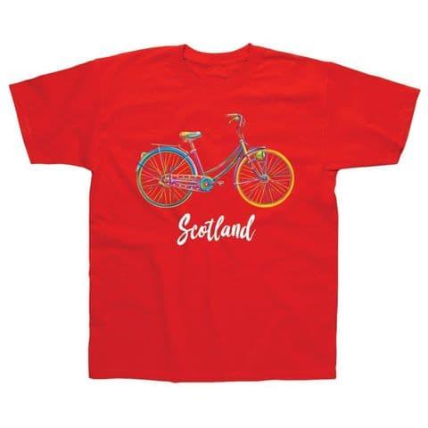 Children's Classic T-Shirt - Scotland - Bicycle PMC07