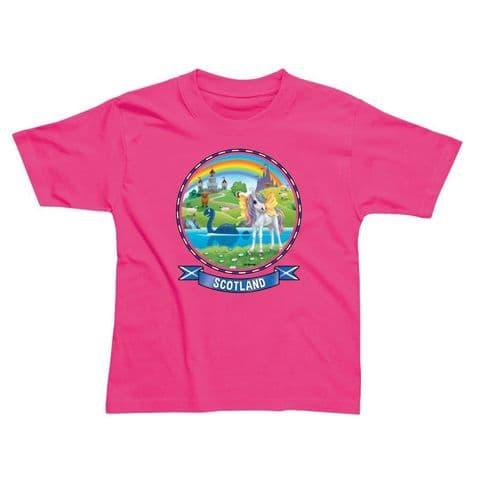 Children's Classic T-Shirt - Scotland Unicorn PMC12