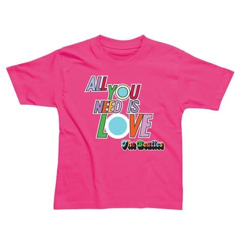Children's Classic T-Shirt - The Beatles - All You Need is Love BEC66TP