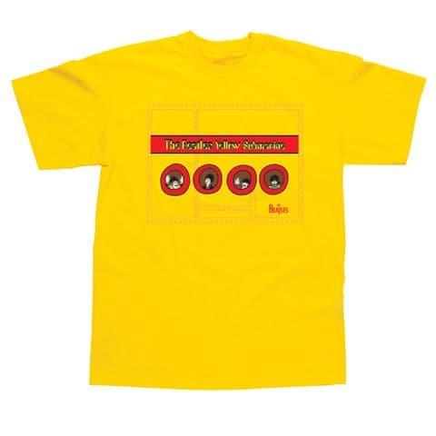 Children's Classic T-Shirt - The Beatles - Yellow Submarine Portholes BEC91TY