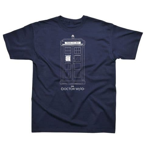 Classic T-Shirt Doctor Who - Tardis DW006