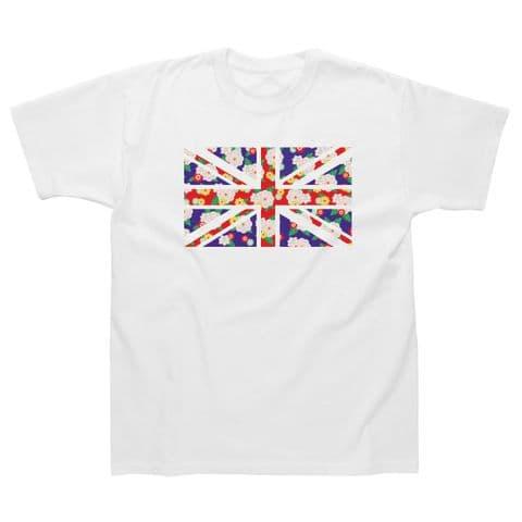 Classic T-Shirt - London - Union Jack Flowers LG021
