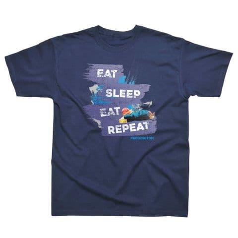 Classic T-Shirt Paddington Eat, Sleep, Repeat PB018