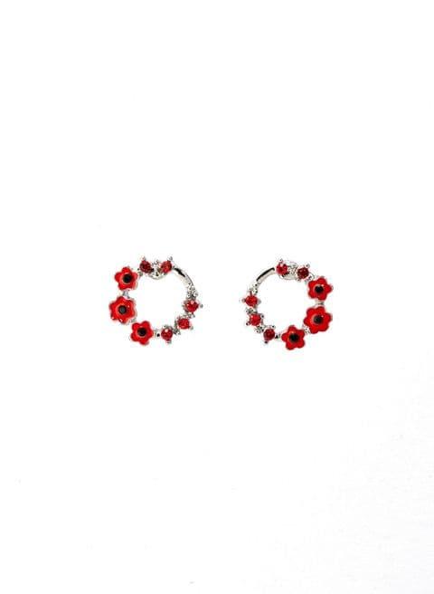 Delicate Poppy Garland earrings 10mm