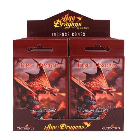 FIRE DRAGON INCENSE CONES BY ANNE STOKES