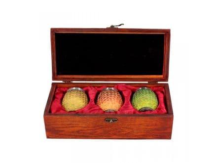 Game of Thrones - Drogon, Rhaegal, Viserion Dragon Egg Shot Glasses (Set of 3) - B3699J7