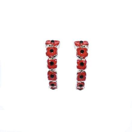 Half Hoop Poppy Studs 17mm