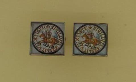 Knight Templar Seal Cufflinks - CL0834